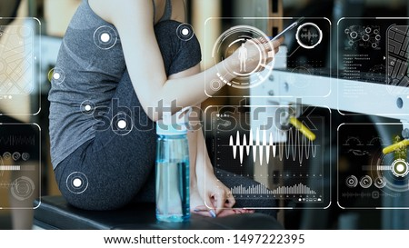 Vital sign sensing concept. Internet of Things. Health tech. Sports tech.
