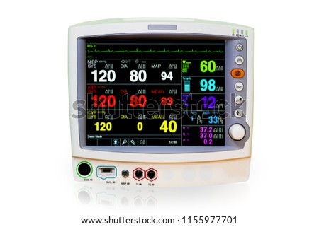 Free photos cardiogram background vital signs avopix vital signs and heart rate monitor with diagram isolated on white background included clipping path ccuart Images