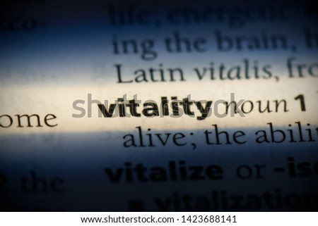 vitality word in a dictionary. vitality concept.