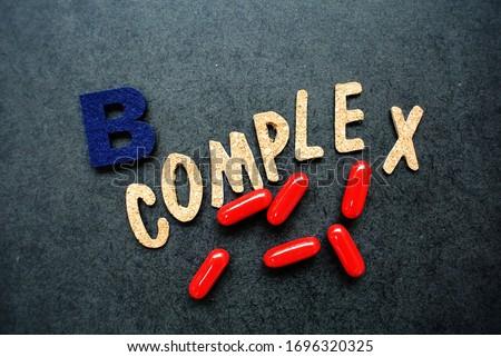 Photo of  Vitamin B complex consists of 8 types of vitamin B B1 thiamine B2 riboflavin B3 niacin B5 pantothenic acid  B6 Pyridoxine ,  B7 biotin , B9  Folic, B12  Cobalamin,