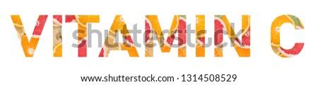 Vitamin c written from citrus