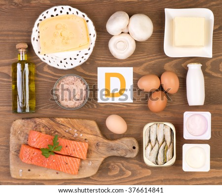 Vitamin D containing foods #376614841