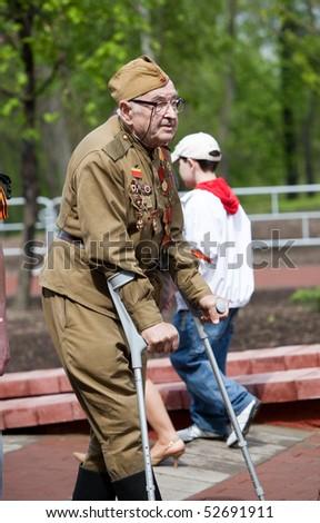 VITEBSK, BELARUS - MAY 9: Celebrating Victory Day. The veteran of the Second World War, May 9, 2010 in Vitebsk, Belarus