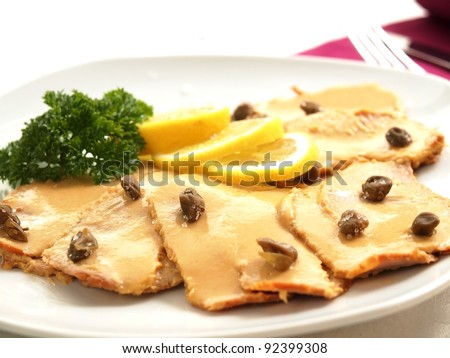 Vitello tonnato - veal with tuna sauce