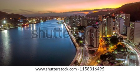 Vitoria Sunset, landmark, brazil city, church sunset, travel, brazil tourism