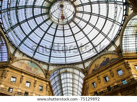 Vittorio Emanuele Gallery, Milan - stock photo