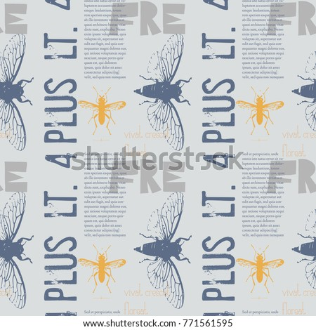 Vivat crescat floreat. Latin words for may it live, grow, flourish. Latin text column with no special meaning. Vintage design pattern, for print and media.