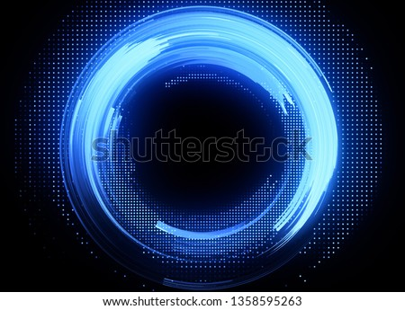 Vivid abstract background. Beautiful design of rotation frame.   Mystical portal. Bright sphere lens. Rotating lines. Glow ring.  Magic neon ball. Led blurred swirl. Spiral glint lines.