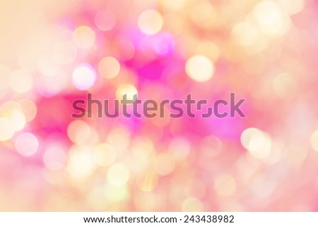 vivid bokeh in soft color style for background
