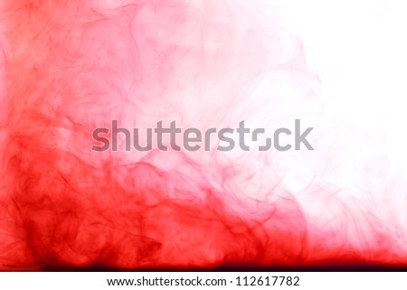 vivid color abstract art photo from chemical solution in water
