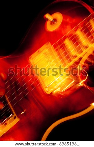 vivid color electric guitar motion blur abstract