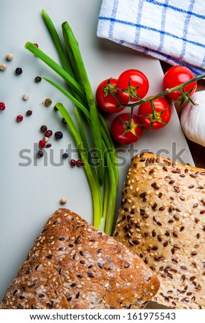 Vivid color, sandwich, healthy food