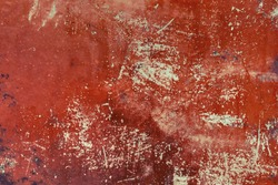 Vivid old copper metal background texture.