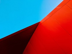 Vivid red with vibrant blue