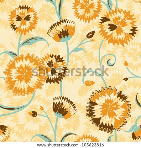 vivid repeating floral   for...