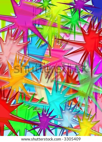 Vivid splash 3d illustrated pattern background