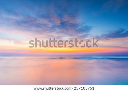 vivid twilight sunset sky and...