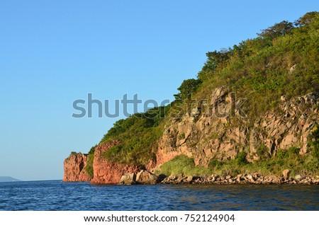 Vladivostok, coast of the island Russkiy #752124904