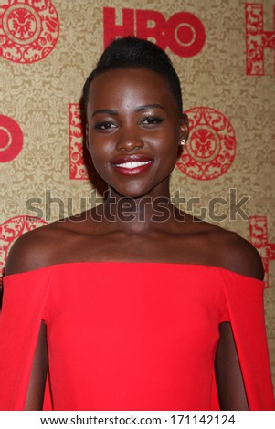 vLOS ANGELES - JAN 12:  Lupita Nyong'o at the HBO 2014 Golden Globe Party  at Beverly Hilton Hotel on January 12, 2014 in Beverly Hills, CA