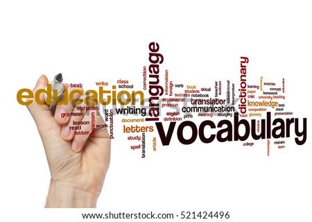 Vocabulary word cloud concept ストックフォト ©