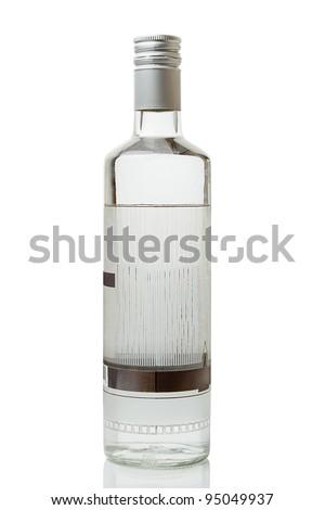 Vodka bottle isolated on white background