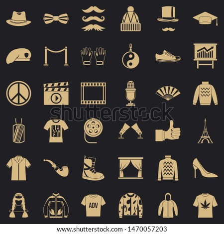Vogue icons set. Simple style of 36 vogue icons for web for any design