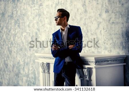vogue shot of a handsome...