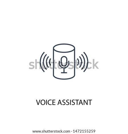 voice assistant concept line icon. Simple element illustration. voice assistant concept outline symbol design. Can be used for web and mobile UI/UX