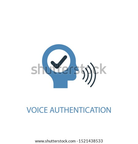 voice authentication concept 2 colored icon. Simple blue element illustration. voice authentication concept symbol design. Can be used for web and mobile UI/UX