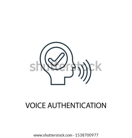 voice authentication concept line icon. Simple element illustration. voice authentication concept outline symbol design. Can be used for web and mobile UI/UX