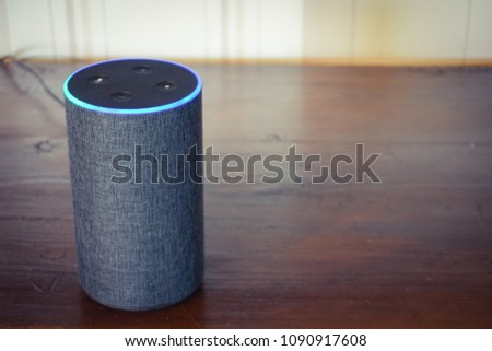 voice controlled smart speaker #1090917608
