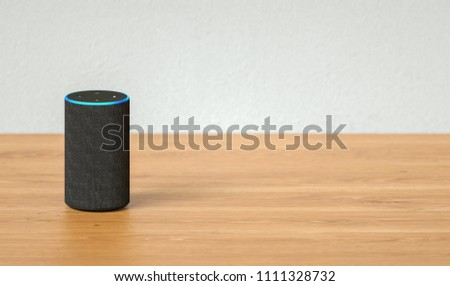 voice controlled smart speaker including copy space #1111328732