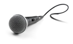 voice microphone with cable isolated