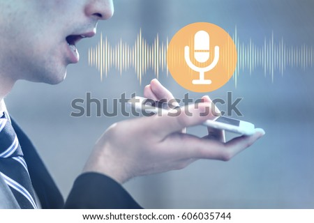 Shutterstock voice recognition with smart phone