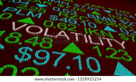 Volatility Wild Movement Prices Up Down Stock Market 3d Illustration Stockfoto ©