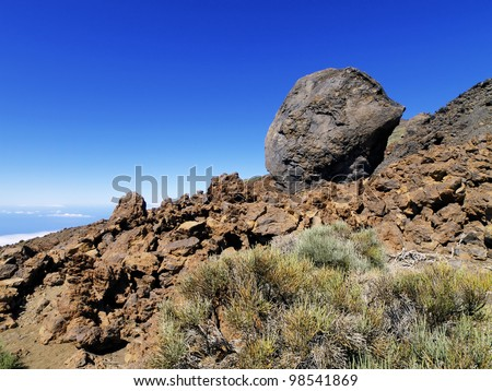 Volcanic Bomb, Teide National Park, Tenerife, Canary Islands, Spain