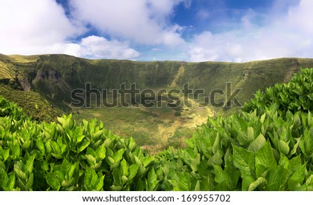 Volcanic Caldeira of Faial, Azores islands