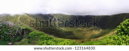 Volcanic Caldeira of Faial, Azores - Panoramic view