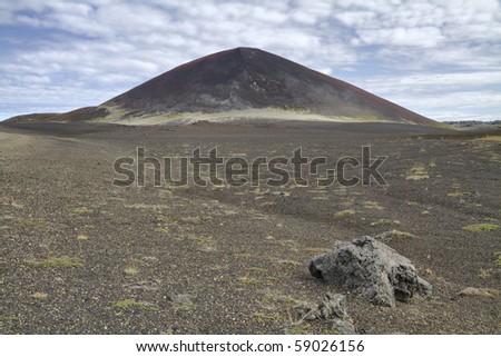 Volcanic cone and wasteland Berserkjahraun, Snaefellnes peninsula, Iceland