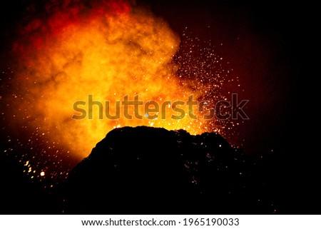 Volcanic eruption in Geldingadalir Iceland Photo stock ©