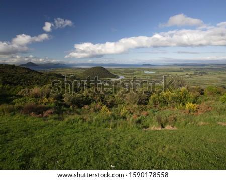 Volcanic landscape at Lake Taupo, North Island, New Zealand