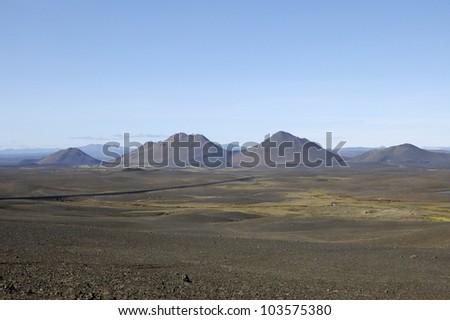 Volcanic landscape in Iceland.