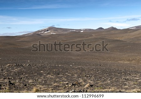Volcanic landscape in the northeast of the island, Iceland