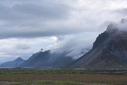 volcanic mountains in Iceland