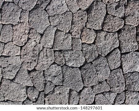 Volcanic Rock Wall Texture Stock Photo 148297601 ...