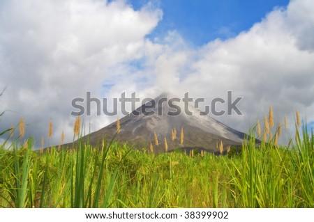 volcano Arenal in Costa Rica - stock photo