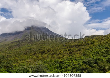 Volcano Arenal on a cloudy day, Costa Rica
