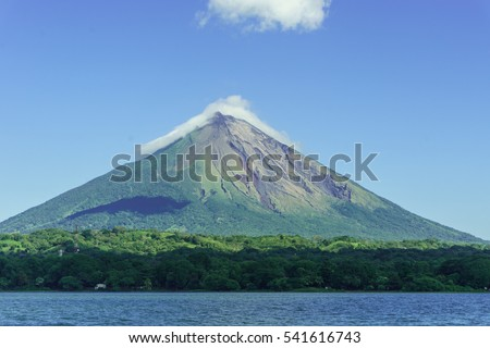 Shutterstock Volcano Concepcion from Ometepe Island, in the lake cocibolca, Nicaragua