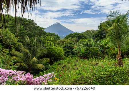 Photo of  Volcano Concepcion on Ometepe Island in Nicaragua, Central America.
