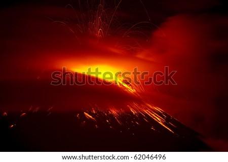 Stock Photo Volcano Eruption